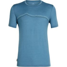Icebreaker Tech Lite Rangitoto Triple Bluzka z krótkim rękawem Mężczyźni niebieski